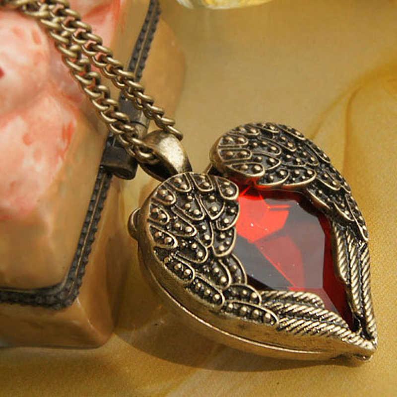 2016 mode nouveau gros bijoux usine fournisseur Vintage rétro Bronze or rouge gemme déclaration collier femmes x306