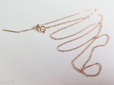 New Au750 Solid 18K Rose Gold Necklace Women O Link Chain AdjustableNew Au750 Solid 18K Rose Gold Necklace Women O Link Chain Adjustable