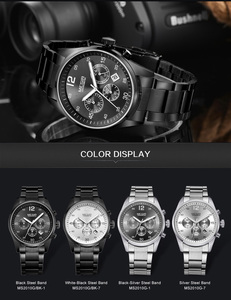Image 3 - MEGIR Horloge Mannen Waterdichte Chronograaf Militaire Mannelijke Klok Top Brand Luxe Rvs Business Man Sport Polshorloge 2010