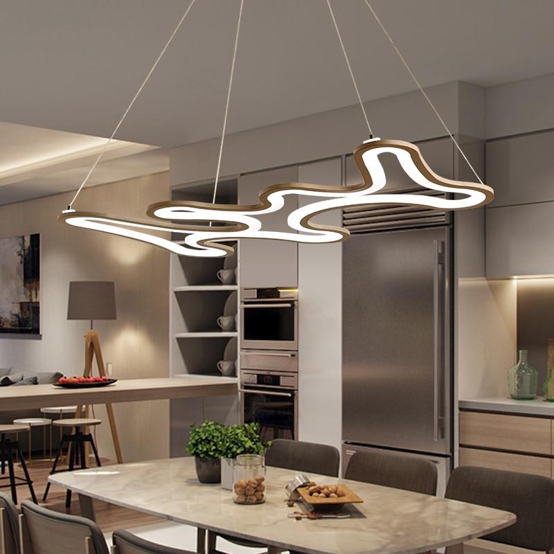 Designer Modern Led Chandelier Kitchen Living Dinging Room Light Fixtures LED Hanging Chandelier Lamp Luminaires White