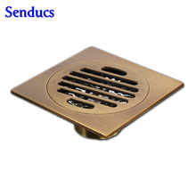 Free shipping Nice quality 10*10cm Bathroom Kitchen Square Floor Drain Strainer Cover For Kitchen Or Bathroom Drainer