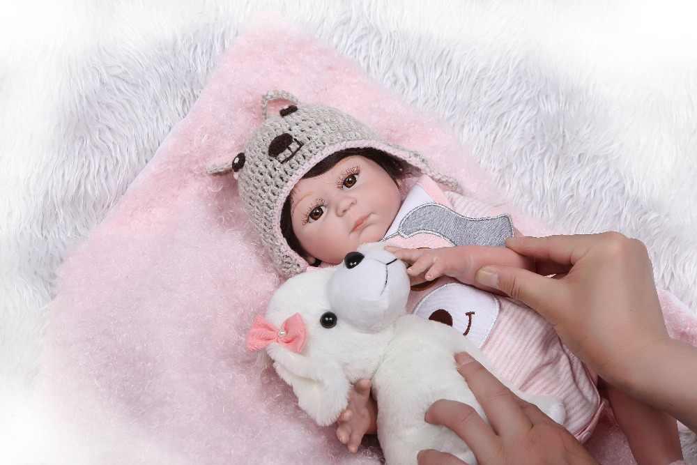 NPK Full Body Siliconen Reborn Baby Girl Pop Speelgoed Levensechte Baby Reborn Pop Kind Verjaardag Kerst bebe Gift reborn bonecas
