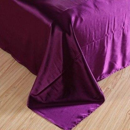 7pcs Tünd bənövşəyi atlaz ipək yataq dəsti California king - Ev tekstil - Fotoqrafiya 4
