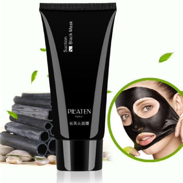 Face Care Black Mud Cleansing Suction Mask Peel Off Facial Skin Mask Nose Blackhead Remover Acne Treatment PILATEN Dropshipping