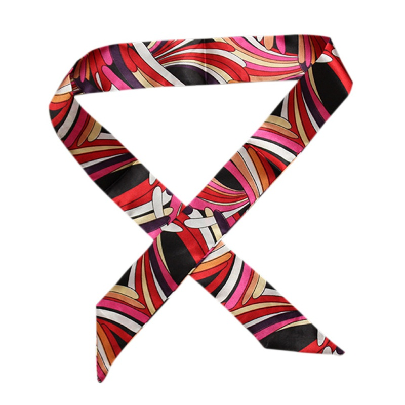 34 Color Stripe Plaid Silk Scarf Women Multi Use Hair Neck Head Bag Scarf Luxury Brand Designer Spring Winter Scarves Fall
