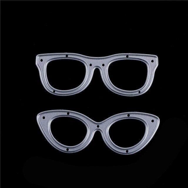 2pcs DIY Photo Album Embossing Folder Stencil Paper Maker Decorative Crafts Glasses Metal Cutting Dies For Scrapbooking