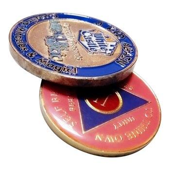 Resina epossidica stampa double-sided monete a buon mercato su ordinazione monete di metallo