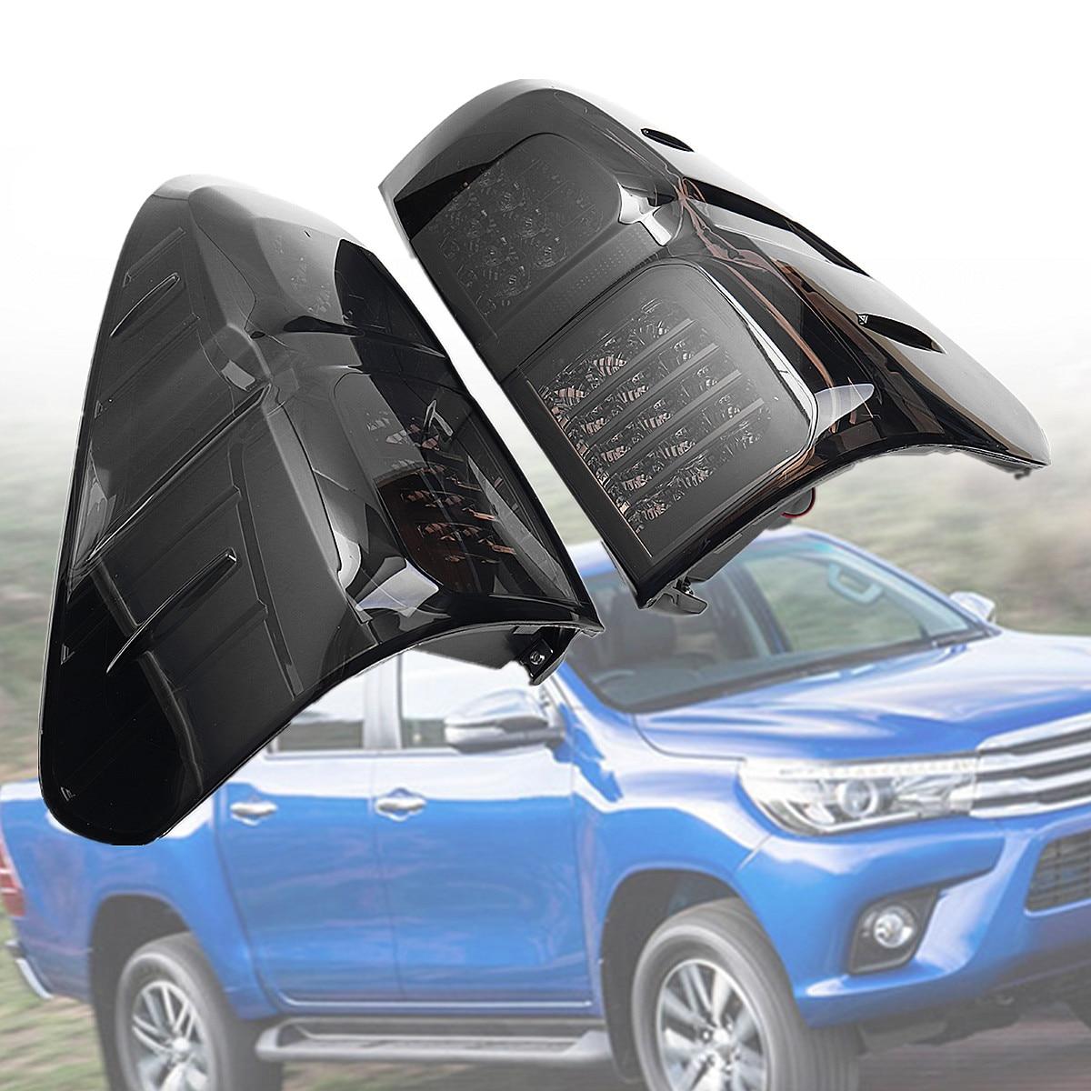 Для Toyota Hilux Vigo Revo 2016 2018 Копченый Прокат светодиодный сзади задние фонари стоп ABS 32x38 см легко установить