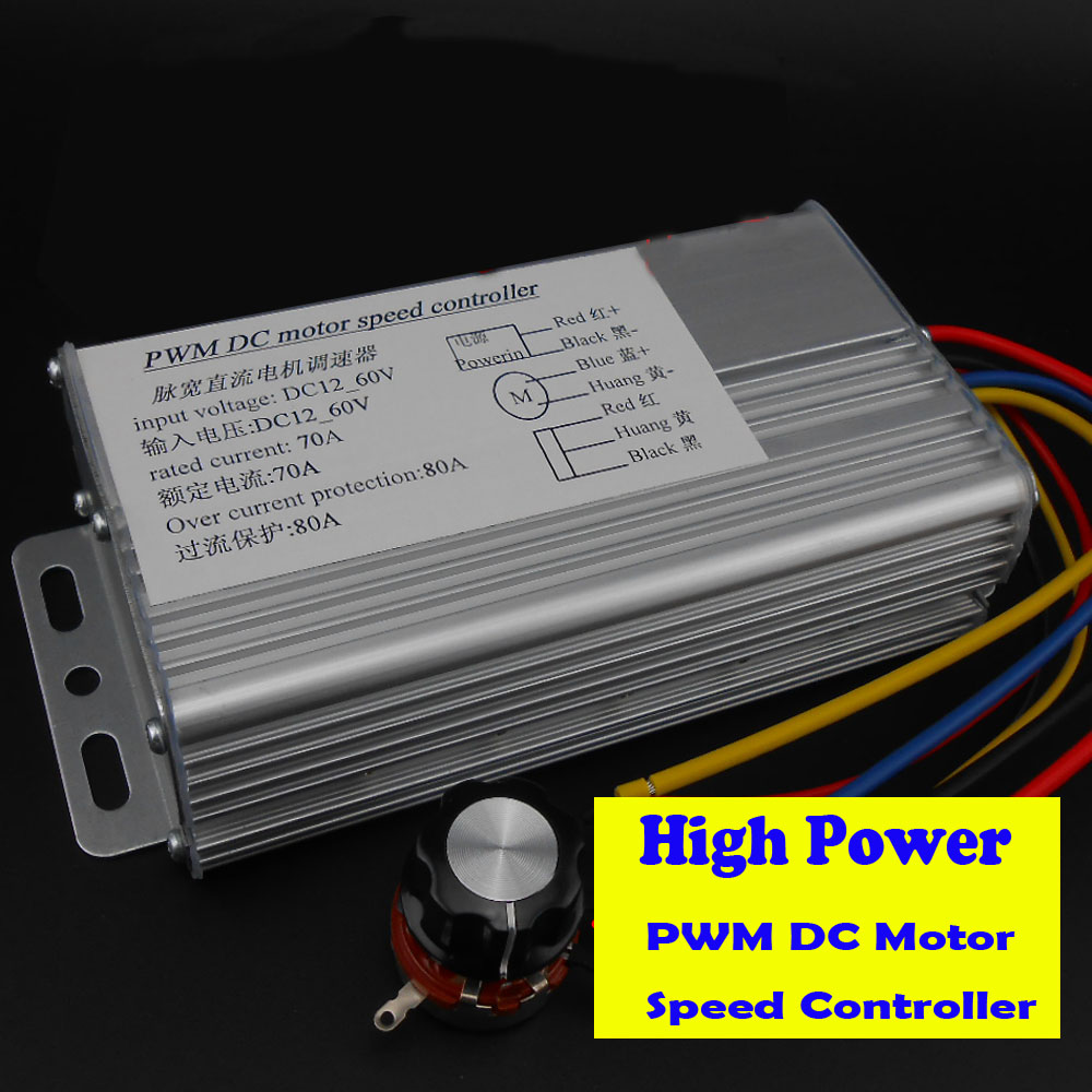 цена на Industrial High Power PWM DC Motor Speed Regulator 12V 24V 36V 48V Brush Motor Controller