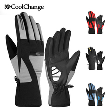 CoolChange Bicycle Winter Gloves Outdoor Waterproof Warm Thermal Thick Cycling Long Finger MTB Bike Men Women