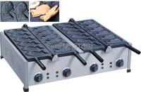 waffle iron Electric fish shape waffle baker, 6kw stainless steel waffle machine for sale