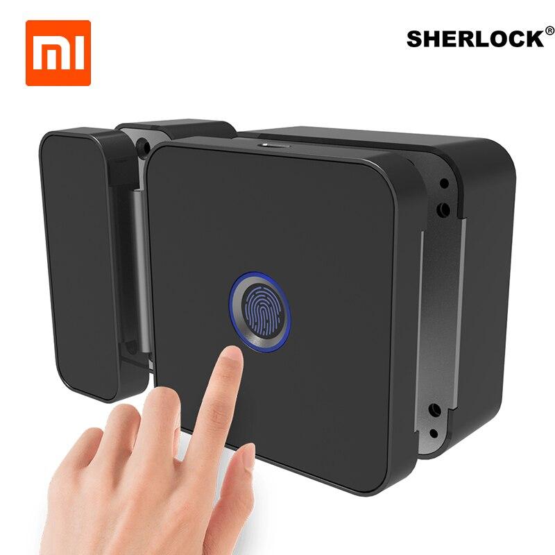Xiaomi Sherlock Verre Serrure De Porte-G D'empreintes Digitales Sans Clé Avec Bluetooth APP Télécommande Pour Bureau Porte Électrique Serrure Intelligente