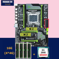 Descuento de la placa base de HUANANZHI X79 Pro con doble M.2 ranura SSD NVMe CPU Intel Xeon E5 2640, 2,5 GHz RAM 16G (4*4G)
