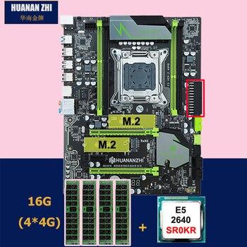 Giảm giá bo mạch chủ thiết lập HUANANZHI X79 Pro bo mạch chủ với dual M.2 khe cắm NVMe SSD CPU Intel Xeon E5 2640 2.5 GHz RAM 16G (4*4G)