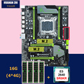 Korting moederbord set HUANANZHI X79 Pro moederbord met dual M.2 slot NVMe SSD CPU Intel Xeon E5 2640 2.5 GHz RAM 16G (4*4G)