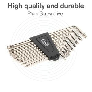 Image 4 - 9 Pcs Hex Wrench Sets Torx L Shape Repair Tools Screwdriver Tool Set Plum Screwdriver T6 T27 CRV Standrad 90 Angle