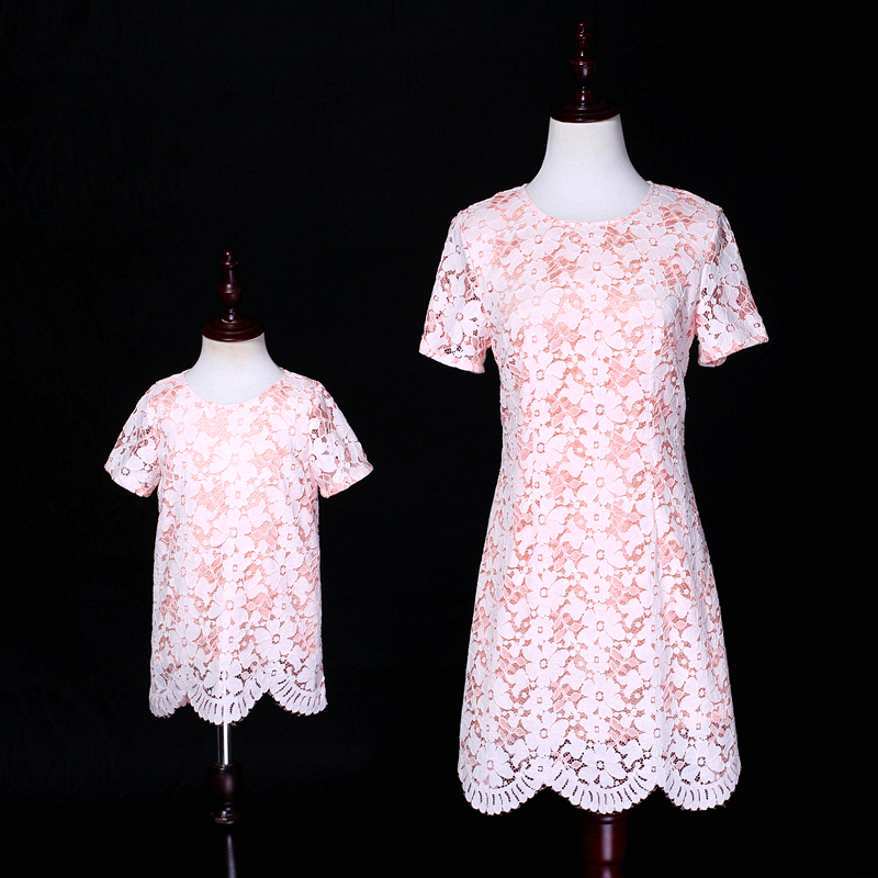Summer women customized dress children infant princess A-line kids girl birthday party dress mother daughter formal lace dresses summer children clothes princess flower print kids beach dress infant formal birthday party girl white dress family match outfit