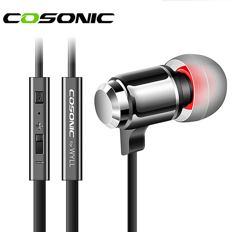 Original Cosonic W3 Stereo Earphones 3 5mm In Ear Earbuds Heavy Bass Headset Music Handsfree With
