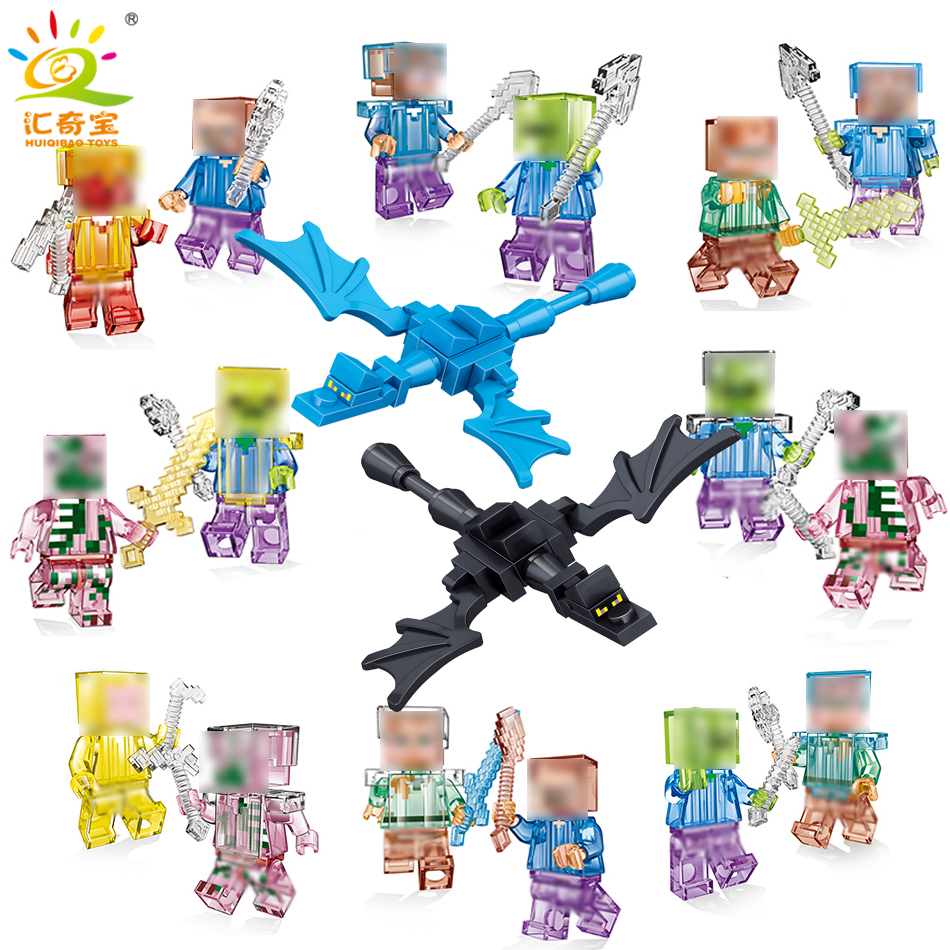 Hot Sale My World Dragon Zombie Steve Compatible Legoe city minecrafted building blocks figure toys for children friends