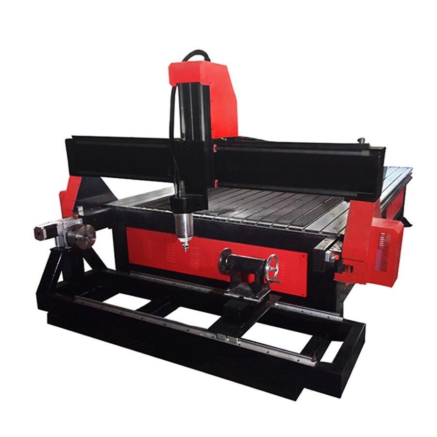 Mchuang qualité CNC sculpture machine 1325 3.2kw 4 axes CNC sculpture sur bois porte outil CNC planaire stéréo travail du bois sculpture machine