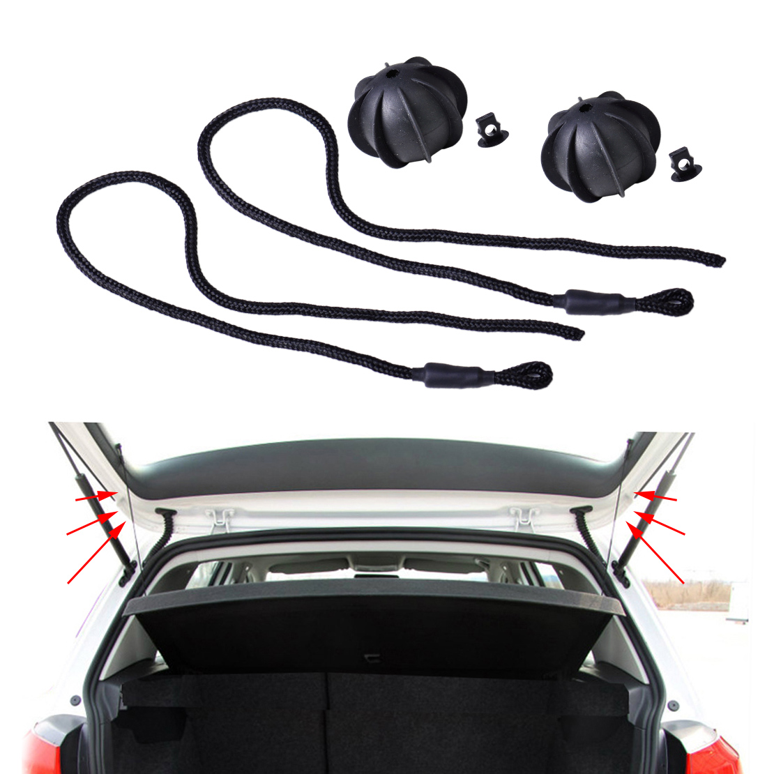 CITALL 2pcs Interior Rear Parcel Shelf String Tonneau Cover Strap Cord for VW Golf Mk5 Mk6 GTI Rabbit 1K6863447A 1K6863447A9B9 2007 bmw x5 spoiler