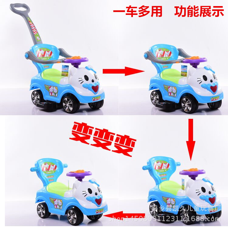 Free Shipping New children twist car car with music Yo baby walker with a push rod baby stroller scooter manufacturers selling