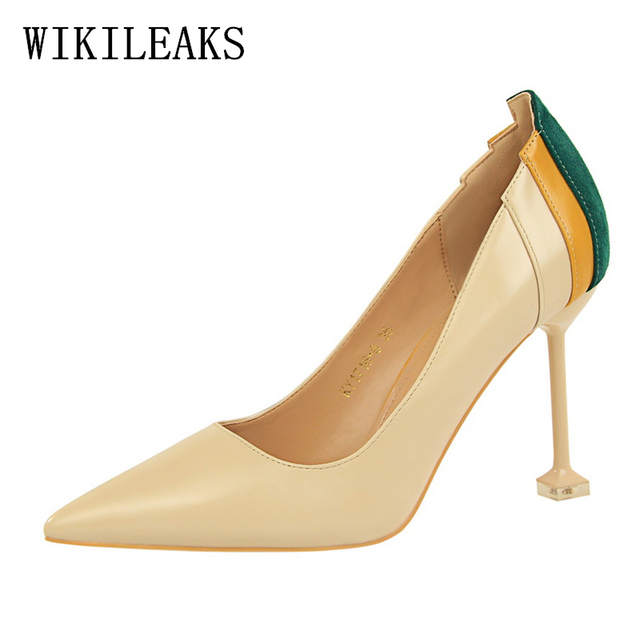 394204c6445 US $19.04 49% OFF|2019 pumps italian shoes woman fetish high heels women  shoes zapatos mujer tacon salto alto luxury brand designer bigtree shoes-in  ...