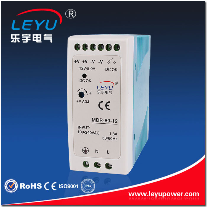 CE RoHS power supply 24vdc din rail 60w fast delivery high quality SMPS din rail mounted with LED indicator ce rohs high precision1200 watt power supply