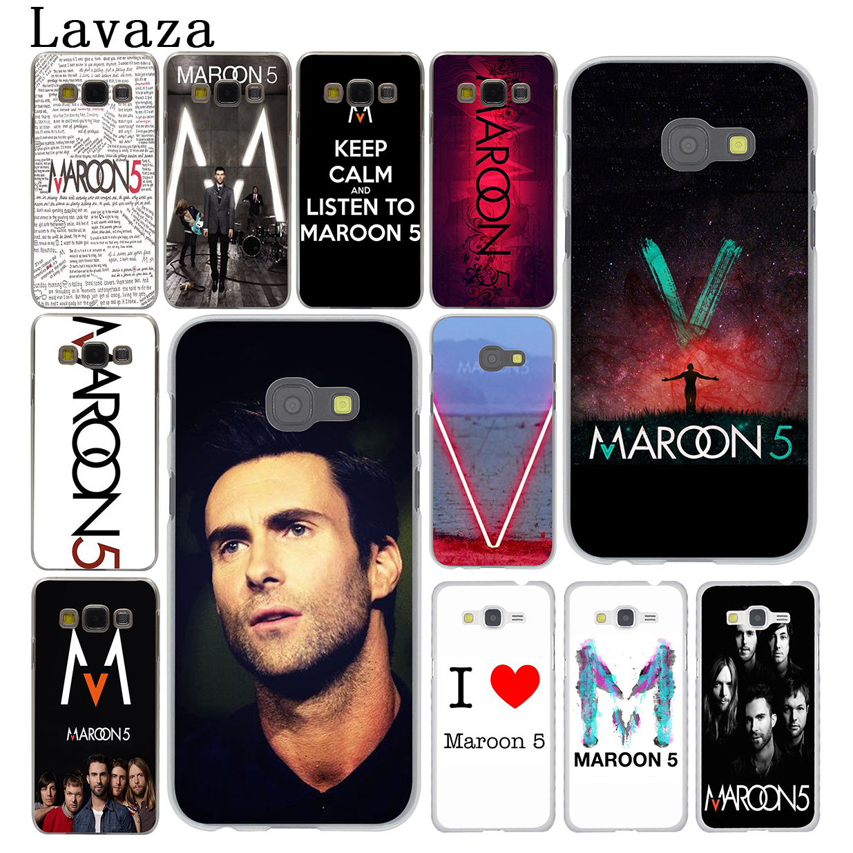 Lavaza maroon 5 Hard Phone Case for Samsung Galaxy A8 A7 A3 A5 2015 2016 2017 2018 Note 8 5 4 3 Grand Prime 2
