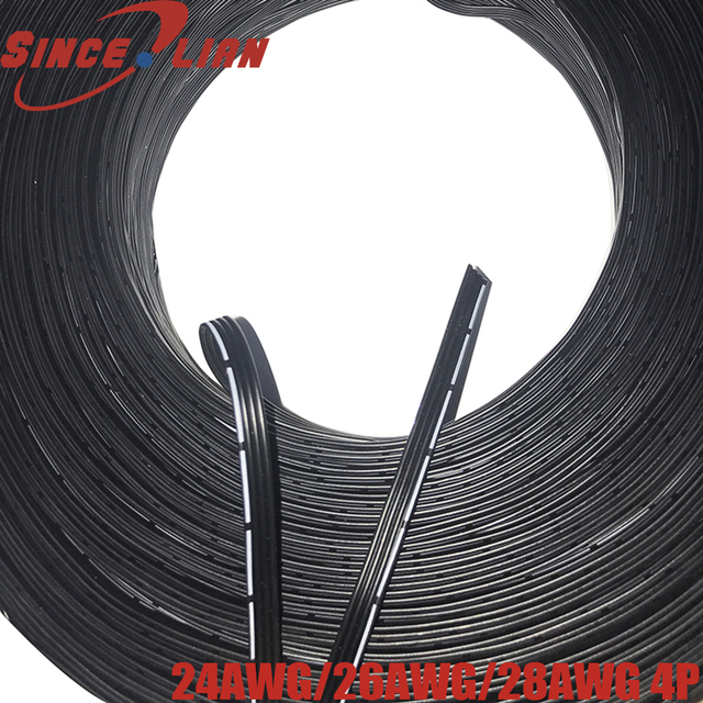 5 м 10 м мягкий 4Pin 24AWG 26AWG 28AWG провод силиконовый кабель для бесщеточного карданного управления камерой датчик двигателя GPS Контроллер полета