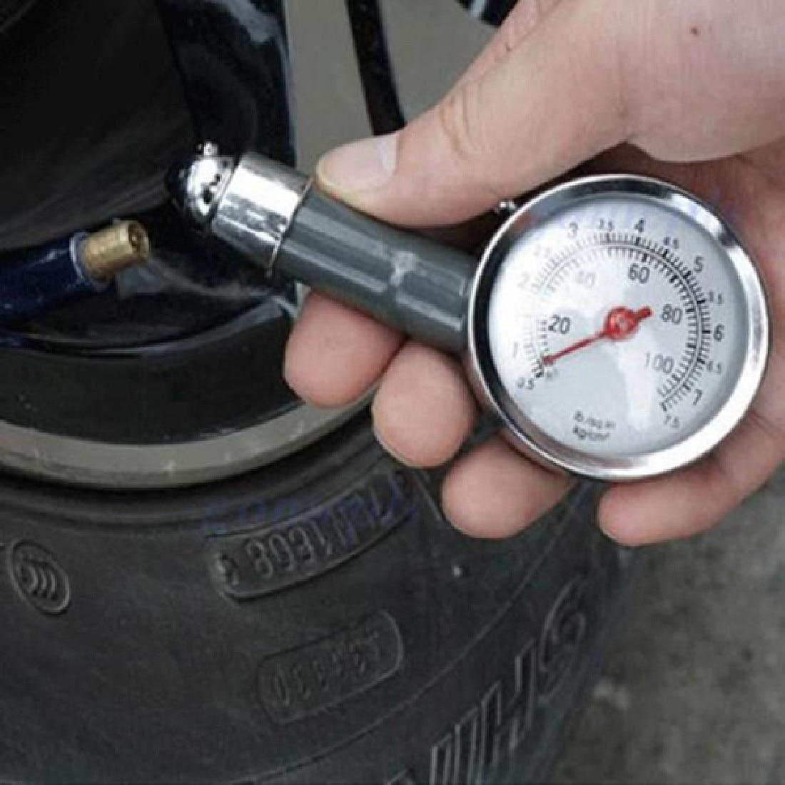 Black Hand Car Repair Test Metal Car Tire Pressure Gauge Auto Air Pressure Meter Tester Diagnostic Tool Second High Precision