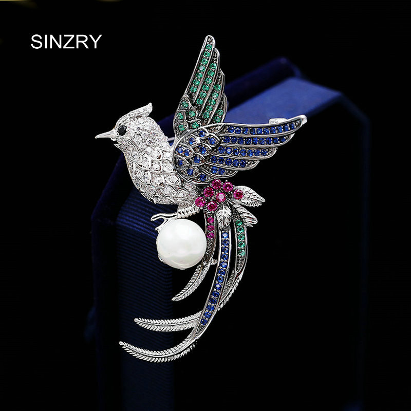 SINZRY elegant suite jewelry accessory trendy cubic zircon color phoenix vintage brooch pin fashionable costume jewelry sinzry elegant new 2018 cubic zirconia yellow daisy flower suit brooches pin lady scarf buckle jewelry accessory for women