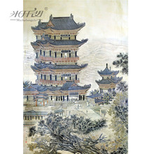 Michelangelo Wooden Jigsaw Puzzles 500 1000 Pieces Chinese Old Master Tengwang Pavilion Educational Toy Decorative Wall Painting michelangelo wooden jigsaw puzzles 500 1000 1500 2000 pieces old master lotus flower mandarin duck shen quan art educational toy