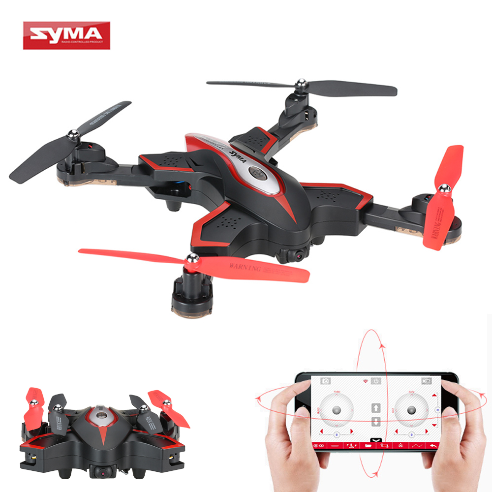 Syma X56W Wifi FPV HD Camera RC Helicopter G-sensor Foldable Drone 2.4G 4CH 6-axis Gyro RC Quadcopter RTF Track-controlled Mode syma x56w foldable rc drone wifi camera fpv rc quadcopter 2 4g 6 axis gyro altitude hold remote control rc helicopter dron