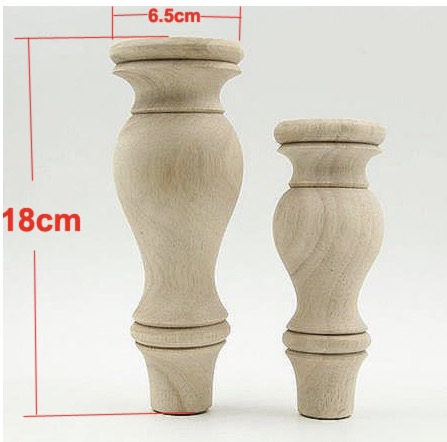 2Pieces/Lot 18*6.5*6.5cm Solid Wood Furniture Foot  TV Cabinet Tea Table Legs
