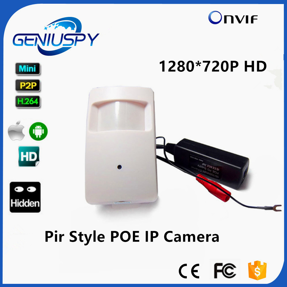 POE 720P 1.0MP ONVIF P2P Plug And Play Micro Pir Mini POE IP Camera PIR Style Motion Detector POE Camera For CCTV System middle clerk working id card holder exhibition identification card cover tag aluminium alloy metal staff badge for colleagues