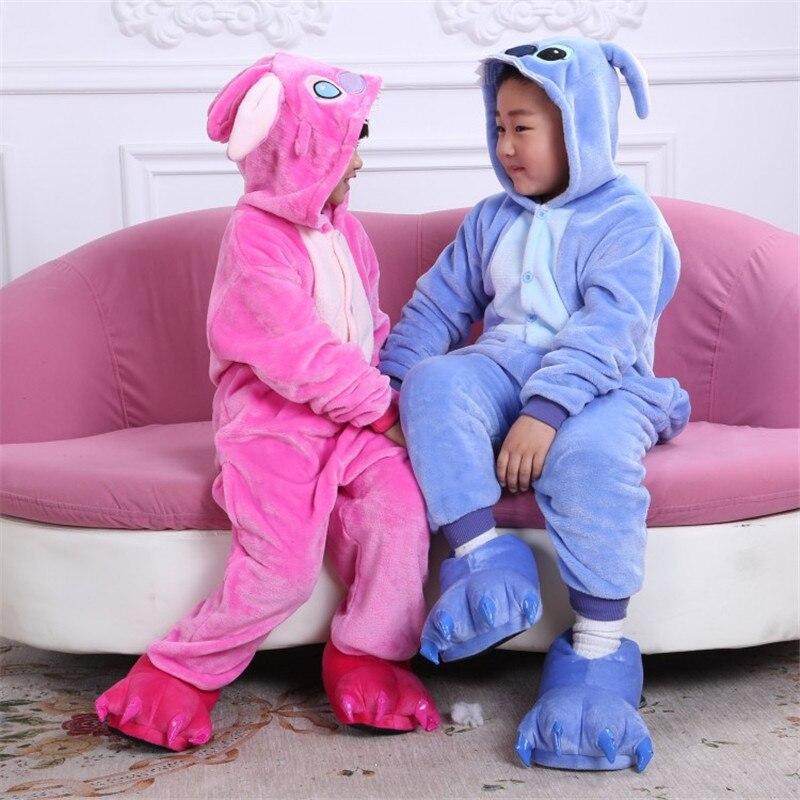 Cute Children Animal Pyjamas Kids Clothes Home Wear Children Nightgown Pyjamas Pink Blue Kids Animal Pijamas Infantil
