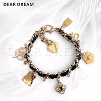 Fashion Girl Letters Love Camellia Perfume Cat And Other Accessories Chain Bracelet Jewelry & Accessories