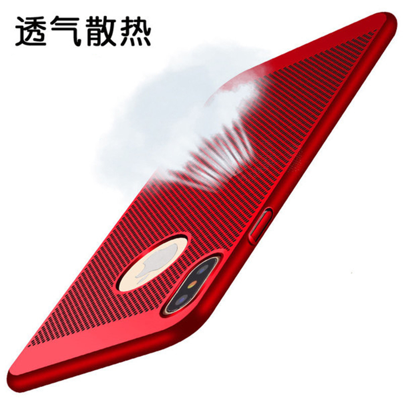 Luxury Hollow Breathable Case For iPhone X iphone 7 6 6S Plus Case Heat Dissipation Hard PC Cover For Samsung Galaxy S8 S8 Plus