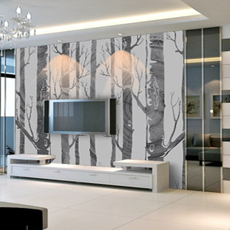Aliexpress.com : Buy Modern House Tree Pattern Design Living Room Wall  Mural Wallpaper Living Room TV Backdrop Bedroom From Reliable Mural  Wallpaper ... Part 75