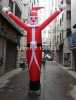 6m One legged air dance star dancing man Advertising inflatable beckoning Christmas old man