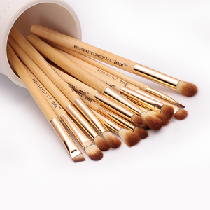 Image 4 - Jessup Brush 15pcs Beauty Bamboo Professional Makeup Brushes Set T137 & Cosmetics Bags Women Bag CB001 Make up brush tools