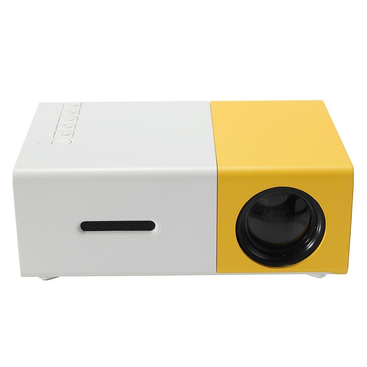 все цены на  YG-300 YG300 LED Portable Projector 400-600LM 3.5mm Audio 320 x 240 Pixels HDMI USB Mini Projector Home Media Player  онлайн
