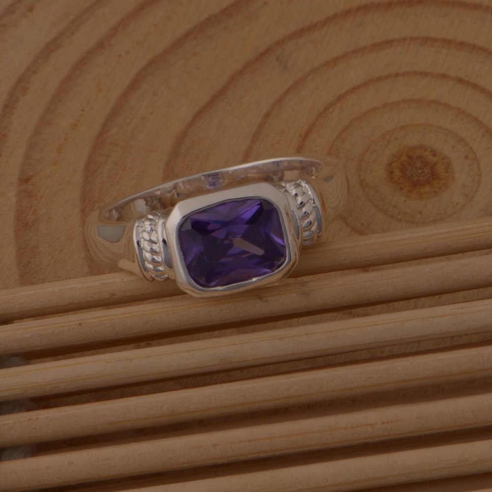 2016 Fine Jewelry Nhẫn Zirconia Khảm Crytal Quảng Engagement Nhẫn Bijoux Phụ Nữ Nhẫn Cưới
