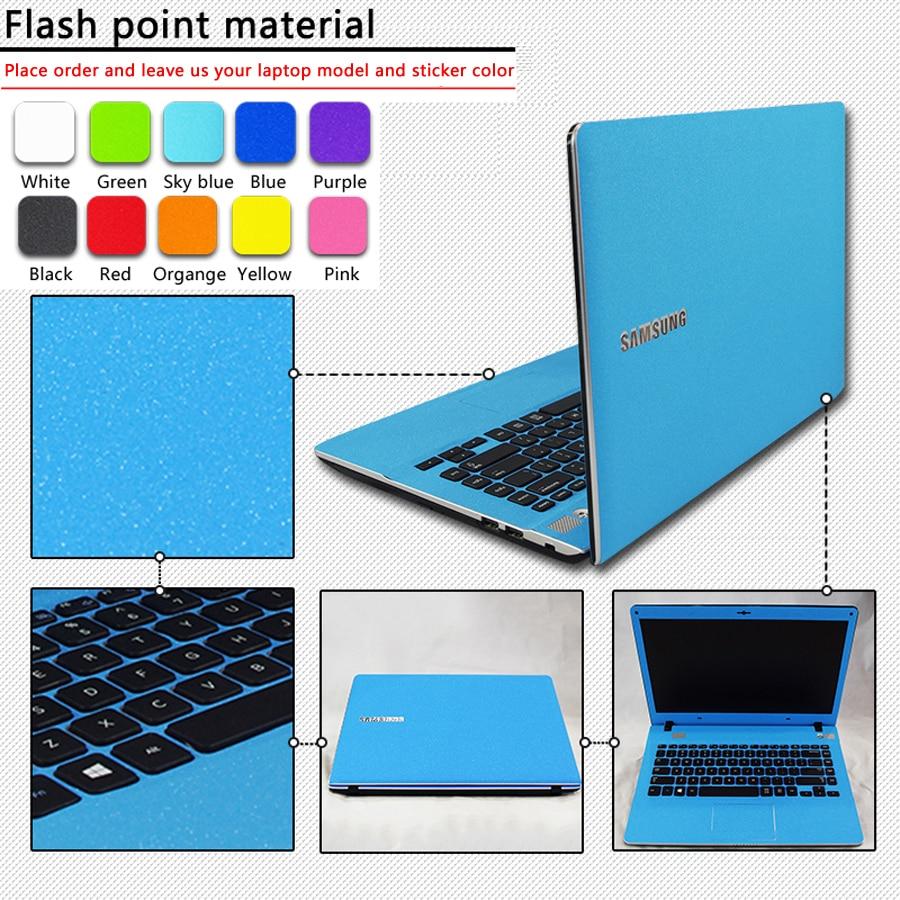 customization pure color abc sides laptop sticker dustproof skins