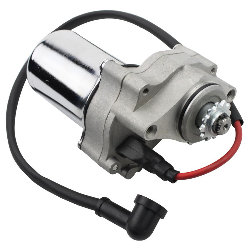 Back To Search Resultshome Motorcycle Scooter Atv Quad Electric Starter Motor For 50cc 70cc 90cc 110cc Silver Electric Starter Motor
