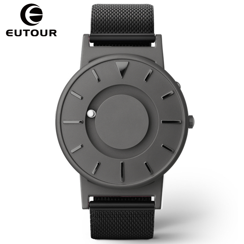 EUTOUR new Luxury Brand watches Men Sports Watch Quartz Military WristWatch Steel Casual fashion magnetic force watches creative