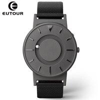 Eutour Новый Элитный бренд часы Для мужчин спортивные часы кварцевые Военная Униформа наручные Сталь Повседневное модные магнитная сила часы ...