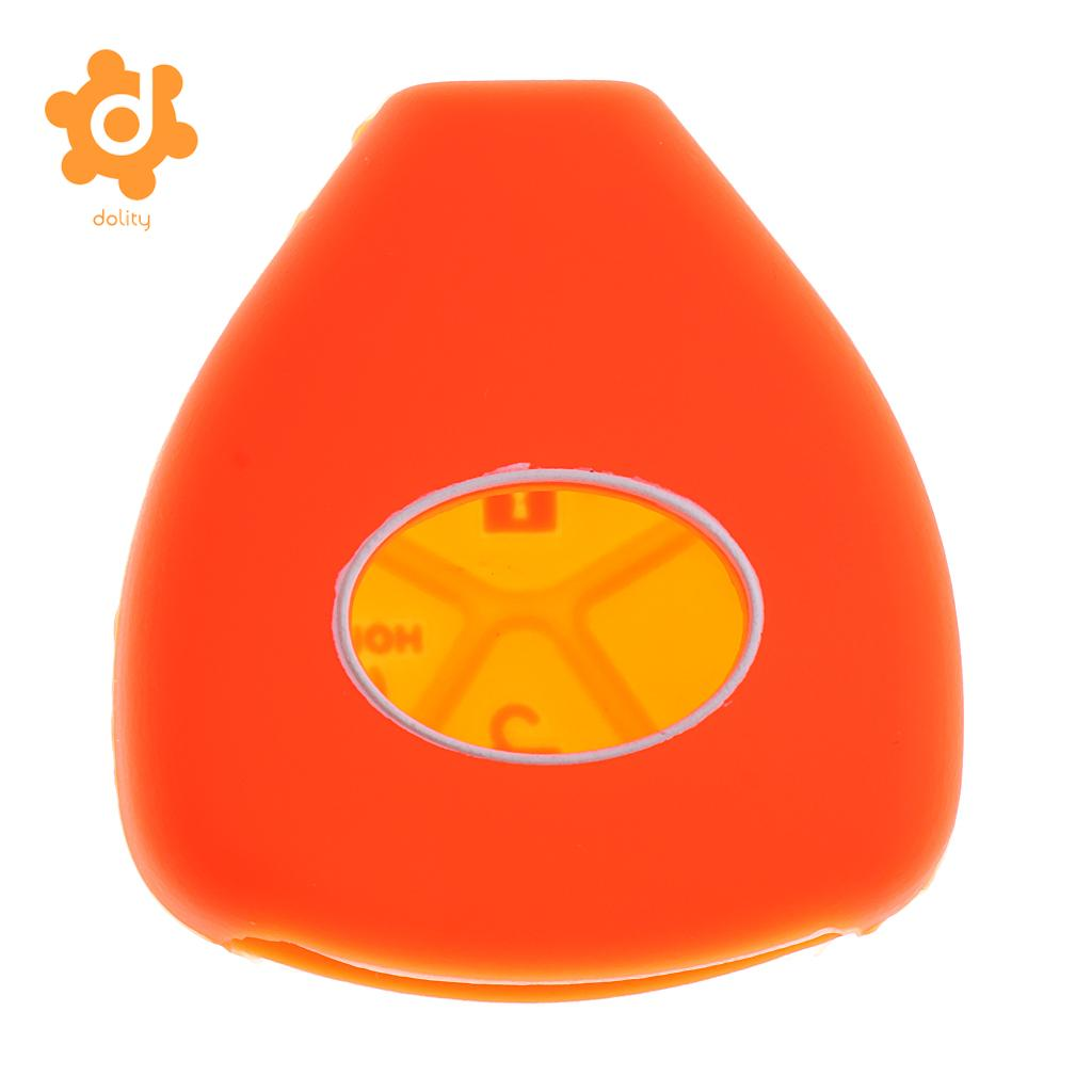 2 Pieces Orange Red Car Key Case Shell Protector Silicone for Toyota