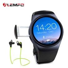 Lemfo lf18 smartwatch teléfono mtk2502 apoyo sim tf tarjeta smart watch para android ios smartphone heart rate monitor